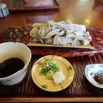 そばきり 萬屋町 助六 - 円空なた切り蕎麦、味噌が美味しかった✨