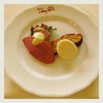 9739727 - カレーのスパイシーなソースが美味しい前菜^^