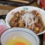 中村農場 - 2018.11 レバー丼 八ヶ岳卵付(1,163円)