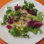 オステリア イル ペッシェ - 天然真鯛のカルパッチョ