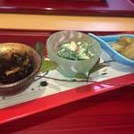 宿月 - ひじき  菊菜の白あえ  菊芋   菊芋の炊き方がバツグン 青のり味みたい