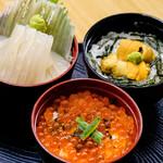 市場亭 - 料理写真:三色丼