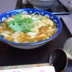 味の民芸 - 黒酢のスーラースープうどん(野菜大盛り)
