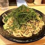ロメスパ バルボア - 明太子 大盛り(750円)+追加青じそ・小松菜(各50円)