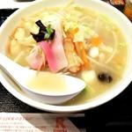 リンガーハット - 野菜たっぷり食べるスープ(塩味) ¥700(税別)