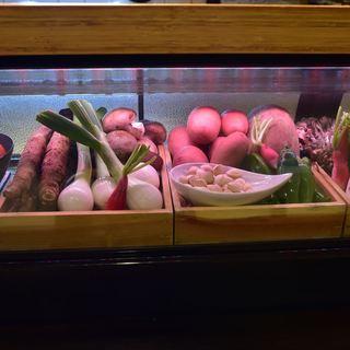旬の野菜をお好みの調理法で