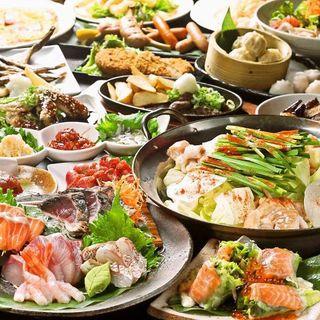 九州の味覚が勢ぞろい!宴会コースは選べる鍋付で3,280円~