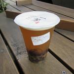 一芳 - 金鑽パイナップル緑茶+タピオカ(氷なし)644円