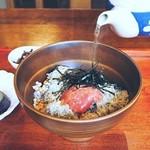 カフェ 寛味堂 - 明太子ととろろ昆布のお茶漬け