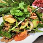 タイ・イサーン地方のひき肉サラダ