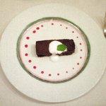 Trattoria Serena - Aプランツォ 1500円 のチョコレートのテリーヌ
