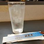 焼酎居酒屋山之手 - お水とおしぼり、割り箸