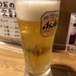 ごっつおらーめん - 生ビール500円