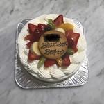 りべーるだんふぁんす - 料理写真:バースディケーキ(生クリーム)