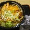 石龍 - 料理写真:かき揚げそば480円 おにぎり(うめ)130円