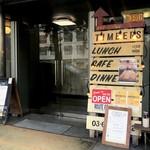ティンバーズ カフェ ツキジ テーブル - ビル1階