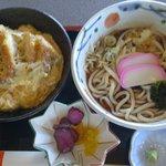 都やこ - カツ丼ランチ(麺大盛り)
