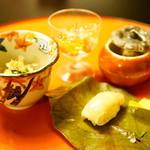 とうふ屋うかい - 季節の味覚ととうふ鍋コース (¥5,400) 季節の盛り合わせ