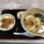 ラーメン まつなが - ミニ豚丼・ラーメンセット〜正油