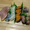 回し寿司 活 美登利 - 料理写真:鴨ロース、炙りエンガワ、冷凍ウニ、ネギトロ、炙りトロサバ