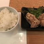 田中の中華そば - Cセット(1,000円)の唐揚とご飯