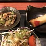 むちゃく - 小鉢の2品とサラダ
