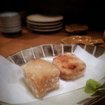 和ビストロ 菜 - 胡麻豆腐の唐揚げ