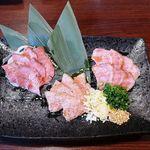 日本酒 やじろう - 肉刺しの盛り合わせ