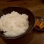 旬菜旬味 燈明 - ミルキークイーンのご飯
