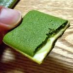 マールブランシュ - お濃茶ラングドシャ 茶の菓