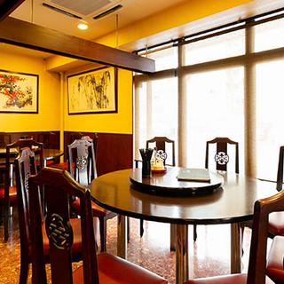リラックス空間の中、円卓を囲んで楽しい中華ディナーを…♪