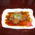 おだい処 近次 - 料理写真:ふじひろ焼 (国産豚バラ肉のやわらか焼)  750円