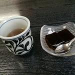 牛鍋おおき - 食後のコーヒーゼリーと番茶