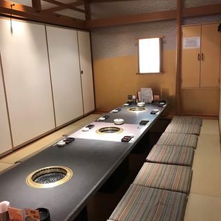 総席数152席、人数に合わせた個室を御用意できます。