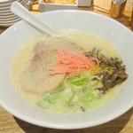 Hakataippuudou - 白丸元味 ※紅生姜、ゴマ、コショーをのせて