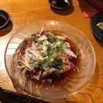 居酒屋 ぴょん吉 - カツオのラー油カルパッチョ