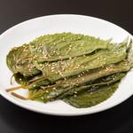 肉と韓国料理 たつりき - 本場仕込み、エゴマの葉