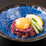 肉と韓国料理 たつりき - 馬刺しユッケ