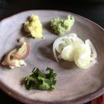 蕎鈴庵 - 5種類の薬味
