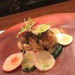 レストラン ラリューム - 北海道産雲子のムニエル あやめ蕪のソテーと赤カブのサラダ