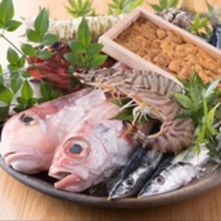 店主自ら毎朝長浜市場で買い付ける鮮魚を満喫『刺身盛り合わせ』