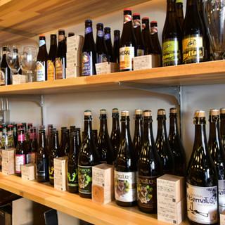 種類の多さに圧巻!200種類以上のベルギービールがずらり