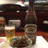 さらり~まん割烹 味ひろ - 料理写真:「キリンラガー瓶ビール」620円とお通しのキンピラごぼう