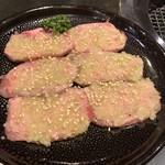 焼肉 志も川 - 牛タン塩のラインアップ。程よく厚切り(^◇^)
