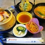 レストラン三宝 - 鮭おこわ・担々麺セット  1382円