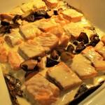 パルケ・ミエール - ランチビュッフェ:鮭とたっぷり茸の朴葉焼き。     2018.11.19
