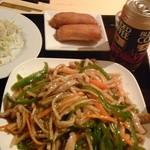 鳳家 - チンジャオロース定食