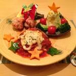 12月の特製料理「メリクリ☆ゆるり☆バーグ」