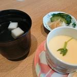 心斎橋 鮨 おか崎 - 茶わん蒸しも付いてきます