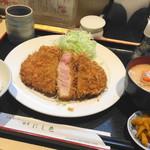 にし邑 - 上ロースかつ膳(1400円)